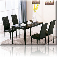 Black 5 Piece Dining Set *