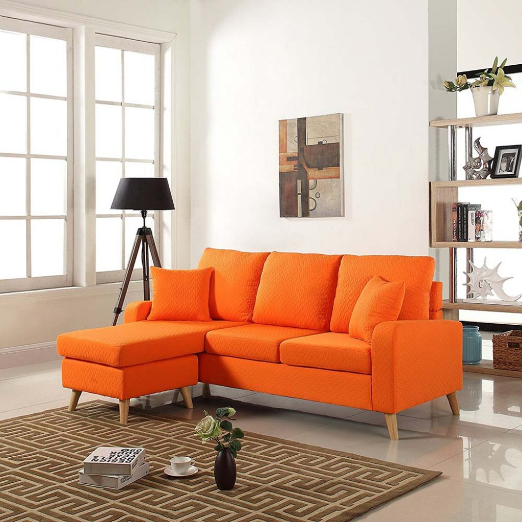 Sofa with chaise newton sofa with chaise arizona leather for Chaise henri 4