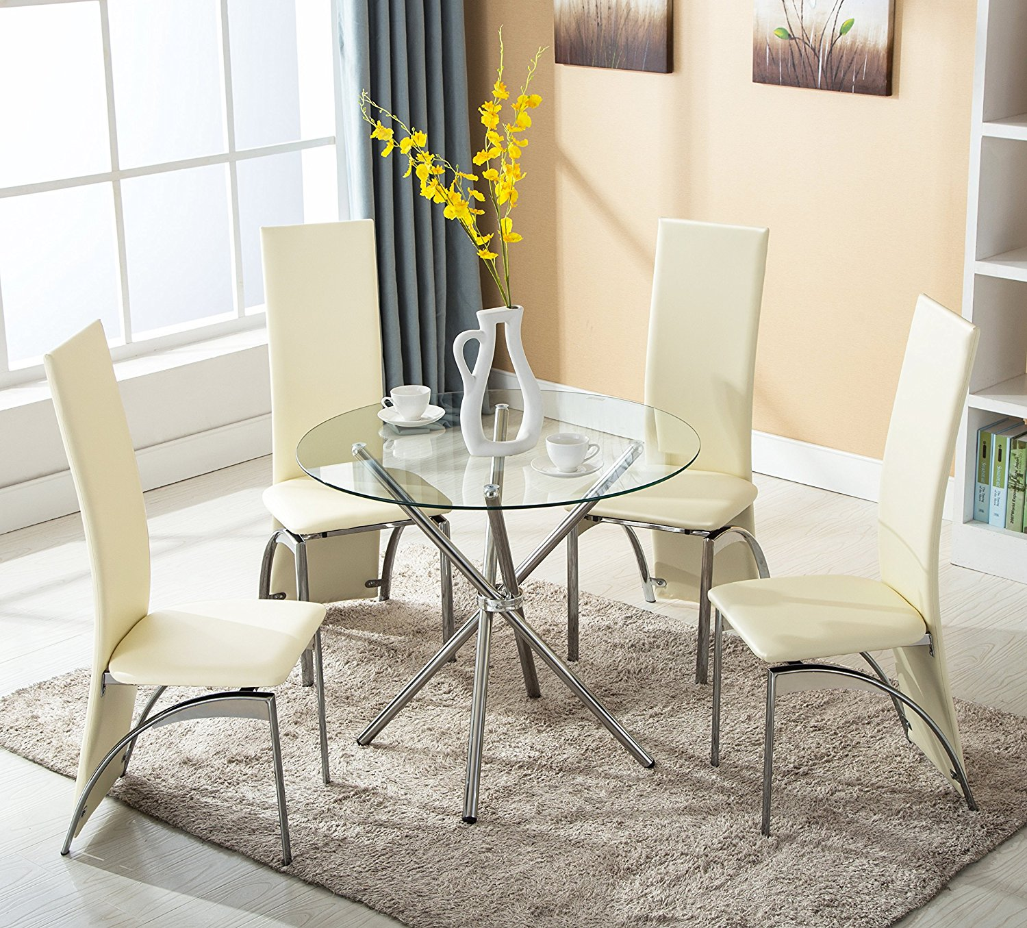 Elegant Dining Table Chairs Set – Kims Warehouse